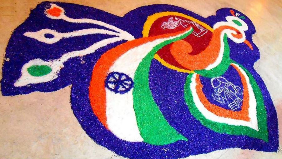Latest Ultimate Patriotic Independence Day Rangoli Designs Images for free download