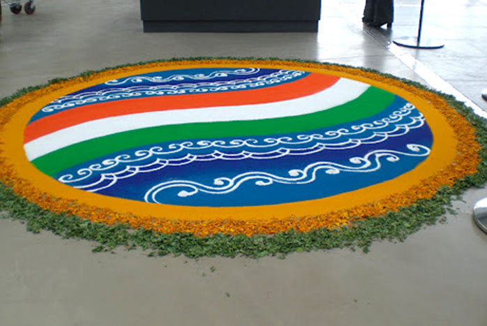 Top Ultimate Patriotic Independence Day Rangoli Designs pictures for free download