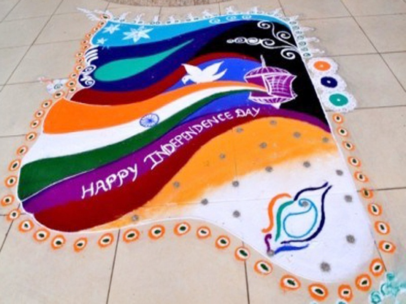 Top Ultimate Patriotic Independence Day Rangoli Designs wallpapers for free download